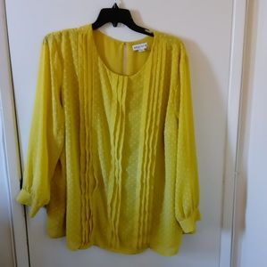 Ava & Viv vibrant yellow blouse